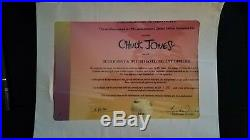 Truant Officer Bugs Bunny & Witch Hazel Cel AP61/75 Chuck Jones Signed Disney
