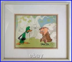 VERY RARE Chuck Jones Signed Robin Hood Daffy animation cel