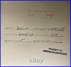 VINTAGE Cel Warner Bros Road Runner Coyote Arrow HAND Signed CHUCK JONES AP #1