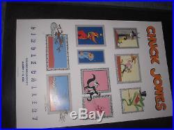 VTg 1986 Chuck Jones gallery signed event poster Warner Bros cartoon art 24x36
