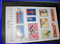 VTg 1986 Chuck Jones signed gallery event poster Warner Bros cartoon art 24x36