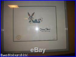 Very Rare Warner Brothers Signed Chuck Jones Production Cel Bugs Bunny Nice