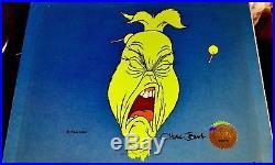 Vintage How The Grinch Stole Christmas Original 5 Cel Set Signed Chuck Jones