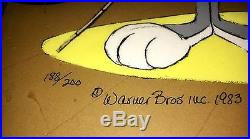Vintage Warner Bros Daffy Duck Bugs Bunny Cel Show Time Signed Chuck Jones Cell