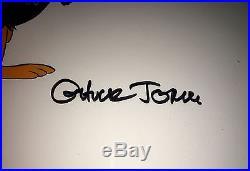Vintage Warner Brothers Daffy Duck Original Production Cel Signed by Chuck Jones