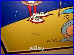 Vintage cel warner brothers daffy bugs the duck dodgers group signed chuck jones