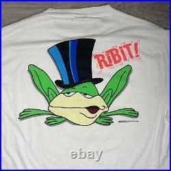 Vintage looney tunes CHUCK JONES AUTOGRAPHED michigan j. Frog t-shirt