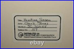 Vtg'86 Chuck Jones Signed limited edition production CELHunting Season154/200