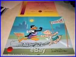 WB SIGNED CHUCK JONES LIMT EDITION SAUSAGE FACTORY Cel DAFFY DUCK PORKY PIG
