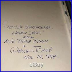 Warner Bros Animation Cel Bugs Bunny And Bride 1 Chuck Jones Signed Vintage Cell
