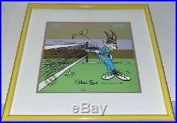 Warner Bros Animation Cel Bugs Bunny Tennis Signed Chuck Jones Vintage Cell