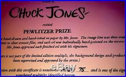 Warner Bros Bugs Bunny Cel Pewlitzer Prize Chuck Jones Signed Rare Artist Proof
