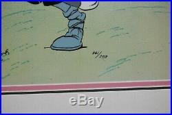 Warner Bros Bugs Bunny & Elmer Fudd Signed Chuck Jones Limited Sericel Cel
