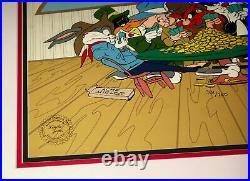 Warner Bros Cel Bugs Bunny Daffy Next To Last Chance Saloon Signed Chuck Jones
