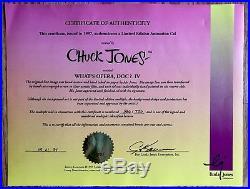 Warner Bros Cel Bugs Bunny Elmer What's Opera Doc IV Signed Chuck Jones M Noble