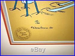 Warner Bros Cel Daffy Bugs Roadrunner Palms Springs Group Signed Chuck Jones
