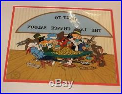Warner Bros Cell Chuck Jones Next To The Last Chance Saloon LE 706/750 Signed