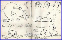 Warner Bros Chuck Jones Signed 11 x 17 Inch Original Production Drawing
