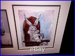Warner Bros Chuck Jones Signed Cel Self Portrait Bugs Bunny Rare Number 1 Cell