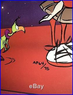 Warner Bros Chuck Jones Signed Marvin Martian Artist Proof Cel Instant Martian