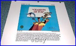 Warner Bros Chuck Jones Signed Road Runner Cel Chariots Of Fur Artist Proof Cell