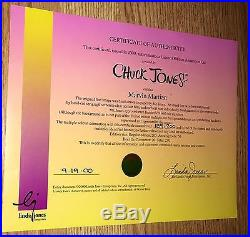 Warner Bros Chuck Jones signed cel Take Me To Your Leader Marvin The Martian