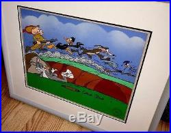 Warner Bros Daffy Bugs Bunny Roadrunner Cel The Great Chase Signed Chuck Jones