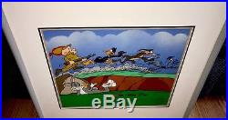 Warner Bros Daffy Bugs Bunny Roadrunner Cel The Great Chase Signed Chuck Jones