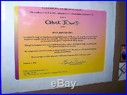 Warner Bros Daffy Duck Marvin K9 Cel Duck Dodgers Trio Signed Chuck Jones Cell