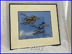 Warner Bros Limited Ed. Cel Wiley Coyote/Road Runner Skiing-Chuck Jones Signed