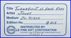 Warner Bros Limited Edition Cel Turn About Is Signed by Chuck Jones Roadrunner