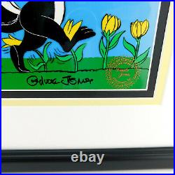 Warner Bros PEPE LE PEW Chuck Jones Pepe in Tulips Cell Art Limited Cel Signed
