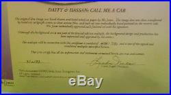 Warner Bros Signed Chuck Jones Animation Cel Daffy Duck & Hassan w COA #482/750