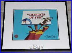 Warner Bros Wile E Coyote Roadrunner Chariot Of Fur Le Cel Signed Chuck Jones
