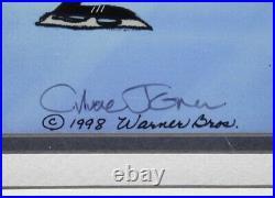 Warner Bros Wiley Coyote Road Runner Skating, Chuck Jones Signed LE 48/350