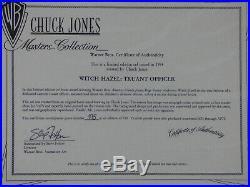 Warner Bros Witch Hazel Truant Officer Bugs Bunny Lim Ed Cel Signed Chuck Jones