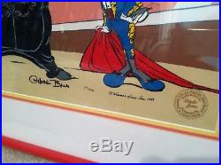 Warner Brothers Bugs Bunny Cel Bugs and Bull II Signed by Chuck Jones Rare