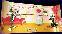 Warner Brothers Bugs Bunny Cel PEPE LE PEW'S 50th BIRTHDAY Signed Chuck Jones