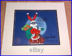 Warner Brothers Bugs Bunny Cel Santa Bugs Signed Chuck Jones Rare Edition Cell