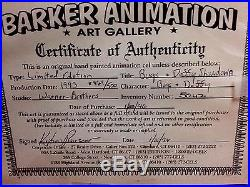 Warner Brothers Bugs Bunny Daffy Duck Cel The Showdown Signed Chuck Jones Cell