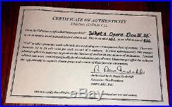 Warner Brothers Bugs Bunny Elmer Fudd cel What's Opera Doc II signed Chuck Jones