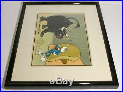 Warner Brothers Bugs Bunny Looney Tunes Bully For Bugs I Signed Chuck Jones Cel