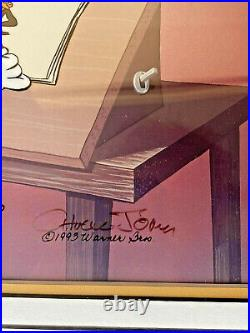 Warner Brothers Cel Bugs Bunny Ain't I A Stinker Rare Signed Chuck Jones Cell