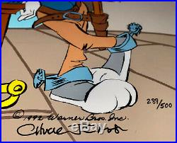 Warner Brothers Cel Bugs Bunny Daffy Duck The Showdown Signed Chuck Jones Cell