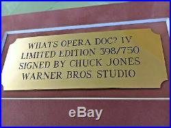 Warner Brothers Cel Bugs Bunny Elmer What's Opera Doc IV Signed Chuck Jones Cell