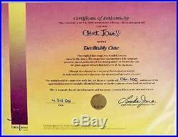 Warner Brothers Cel Bugs Bunny Tasmanian DevilIshly Cute Signed Chuck Jones Cell