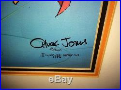 Warner Brothers Cel Daffy Duck Mad Scientist Dr Hi Signed Chuck Jones Cell