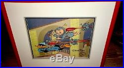 Warner Brothers Cel Daffy Duck Porky Pig Duck Dodgers II Signed Chuck Jones Cell