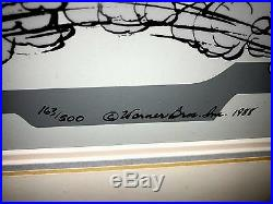 Warner Brothers Cel Roadrunner Wile E Coyote Baby Chase Chuck Jones Signed Cell