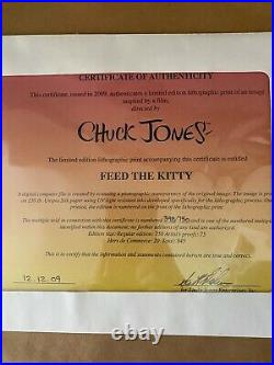 Warner Brothers-Chuck Jones Limited Edition Litho-Feed the Kitty-Marc Anthony